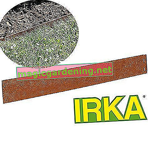 IRKA lawn edging Corten steel narrow 14 cm Mowing edge bed border metal 1mm thick