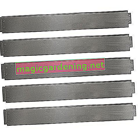 Lawn edging 5m 10m 15m 20m 30m 40m 50m 100x14cm or 100x18cm galvanized bed border bed border mowing edge metal palisade (length 5m - height 14cm)