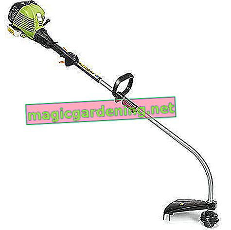 COSTWAY grass trimmer petrol 25cc, brush cutter with handles 800W / 43cm cutting width / 7500 rpm / 500ml oil tank / single thread 6m / Φ2mm (petrol: oil - 40: 1) with mixing bottle