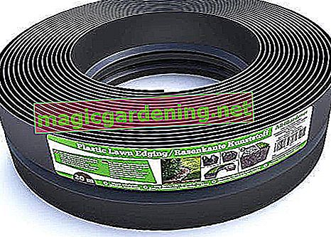 Flexible plastic lawn edging (20 m, black) - Robust stay-in-place design - Very easy to process, min. 30 years service life, invisible - Bed edging made of 100% recycled plastic