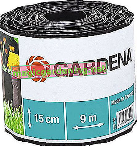 Gardena lawn edging 15 cm high: ideal lawn delimitation, also for beds, 9 m, prevents roots from spreading, plastic, brown (532-20)